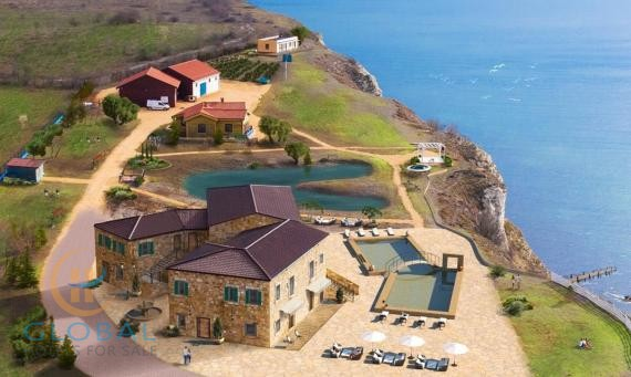 Amazing property situated on a dramatic cliff side overlooking the Black Sea